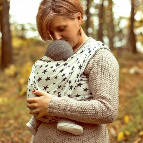 Vázání s elastickým šátkem –nošení od narození